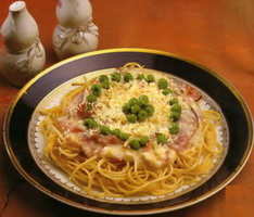 resep-spaghetti-with-smoked-beef-and-peas-bahan