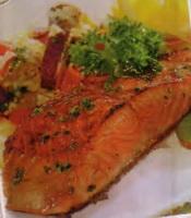 resep-salmon-panggang-tumis-sayuran