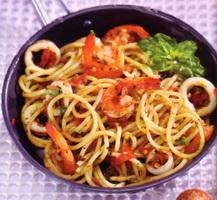 resep-spaghetti-seafood-aglio-olio